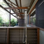 Outdoor shower on timber deck - Newport NSW
