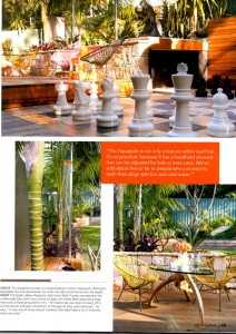 SMG Outdoor Shower - featured in Australian Home Ideas magazine